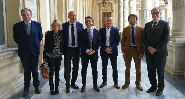 Da sx E. Vittone, N. Beltramo, G. Ajani, M. Pironti, L. Martinotto, V. Maurino, S. Aime.jpg